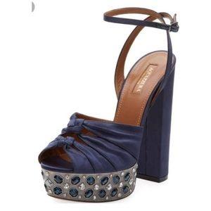 Aquazurra party crystal embellished satin sandals